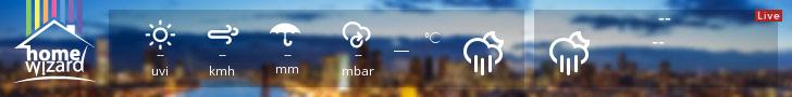 Zwembadwater Temperatuur via HomeWizard Weather Widget
